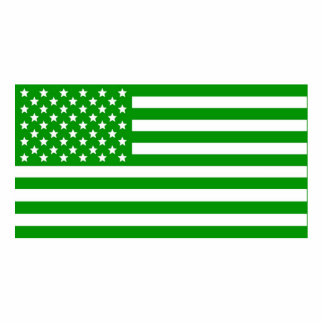 Green USA Flag Acrylic Cut Out