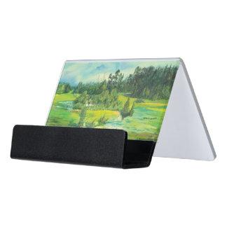 green valley desk business card holder