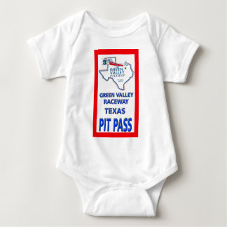 Green Valley Raceway Pit Pass Baby Bodysuit