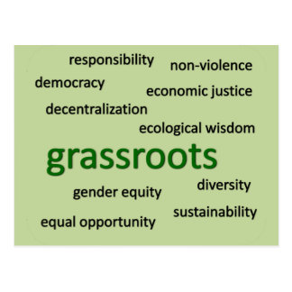 Green values philosophy 2 postcard