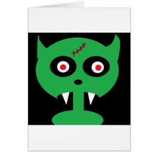 green vamp greeting card