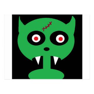green vamp postcard