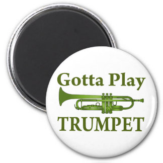Green Variegated Gotta Play Trumpet Gift Magnet