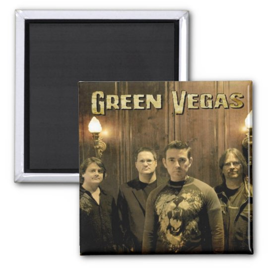 Green Vegas Band Photo Magnet