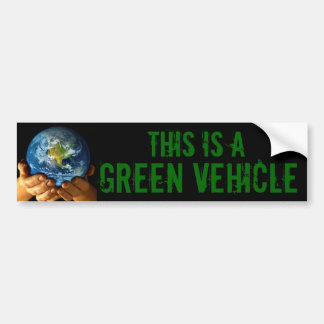 GREEN VEHICLE BUMPER STICKER