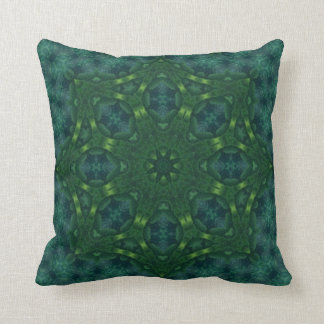 Green Velvet Kaleidoscope Design No 02 Throw Pillow
