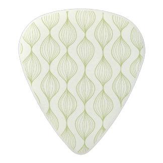 Green vertical ogee pattern background acetal guitar pick