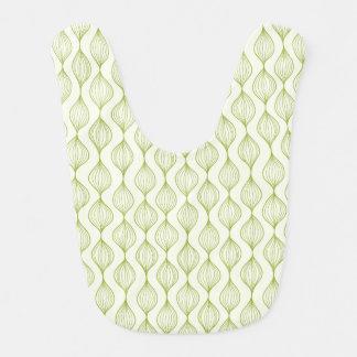 Green vertical ogee pattern background bib