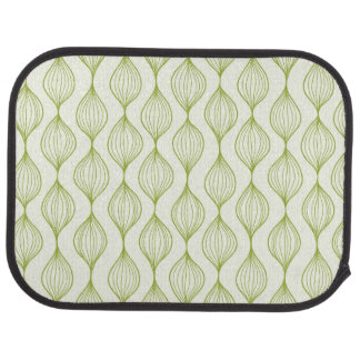Green vertical ogee pattern background car mat