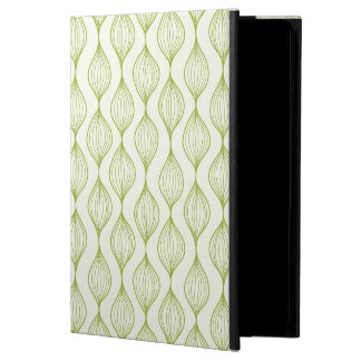 Green vertical ogee pattern background cover for iPad air