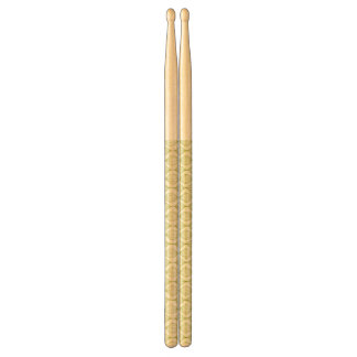 Green vertical ogee pattern background drumsticks
