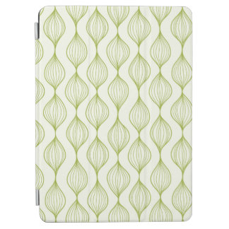Green vertical ogee pattern background iPad air cover