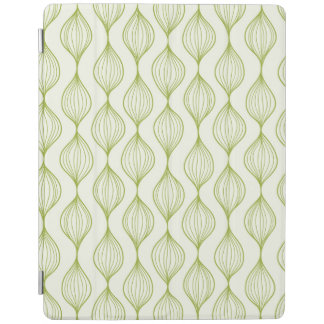 Green vertical ogee pattern background iPad cover