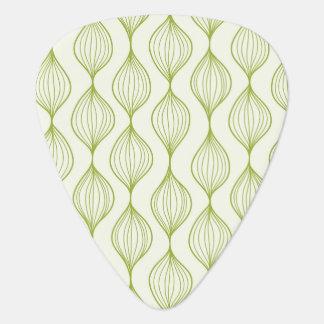 Green vertical ogee pattern background plectrum