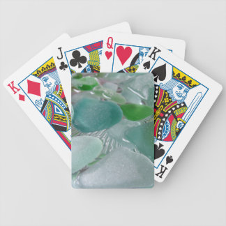 Green Vibrations Green Sea Glass Bicycle Playing Cards