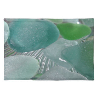 Green Vibrations Green Sea Glass Placemat