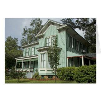 Green Victorian House Card