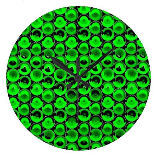 Green Video Game Arcade Buttons Clocks