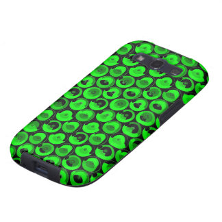 Green Video Game Arcade Buttons Galaxy SIII Cover