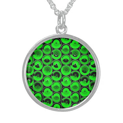 Green Video Game Arcade Buttons Custom Necklace