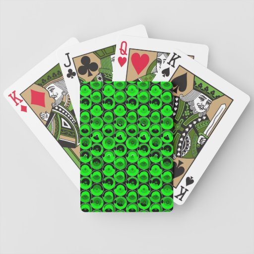 Green Video Game Arcade Buttons Bicycle Card Deck