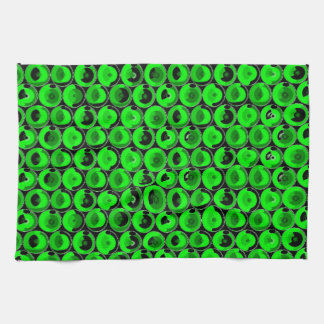 Green Video Game Arcade Buttons Hand Towel