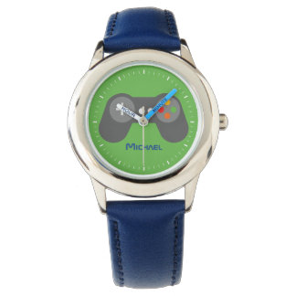 Green Video Game Controller Wrist Watches