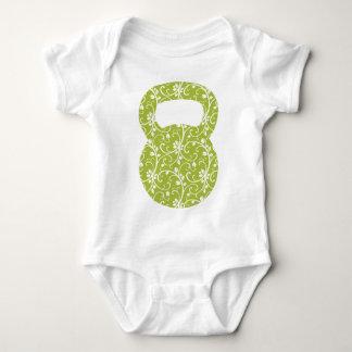 Green Vine Kettlebell Baby Bodysuit