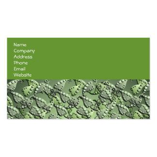 Green Vine Leaf pattern Business Card