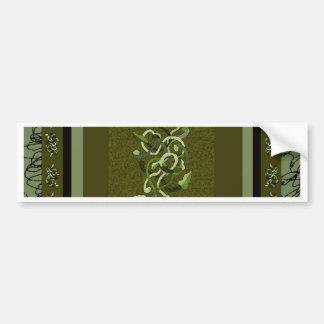 Green Vineattica Vines Design CricketDiane Bumper Stickers