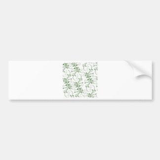 Green Vines Bumper Sticker