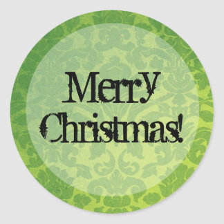 Green Vintage background Merry Christmas Stickers