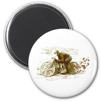 Green Vintage Board Track Motorcycle Magnets