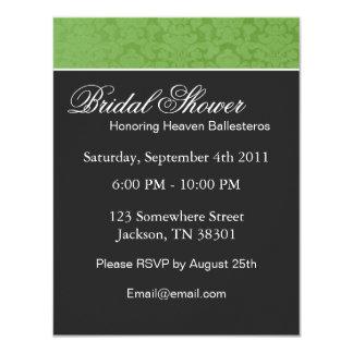 Green Vintage  Bridal Shower Invitations