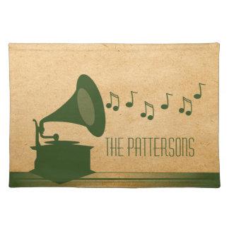 Green Vintage Gramophone Placemat