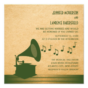 Music Wedding Invitations Announcements Zazzlecouk
