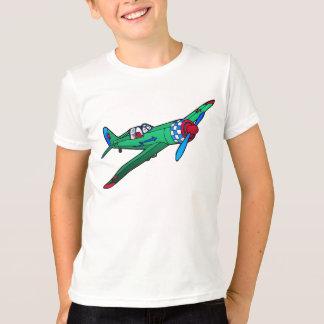 Green Vintage Plane Kid's T-Shirt