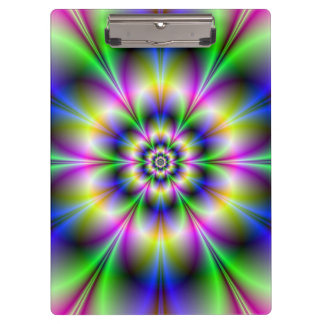 Green Violet and Blue Flower Clipboard