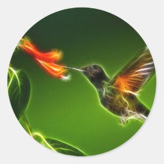 Green Violetear Hummingbird Classic Round Sticker