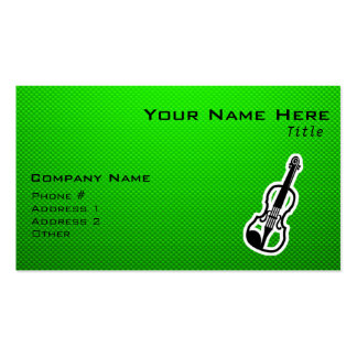 Green Violin Pack Of Standard Business Cards