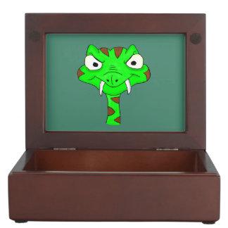 Green viper keepsake box