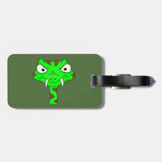 Green viper luggage tag