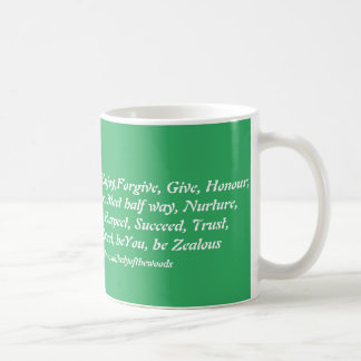 Green virtues mug