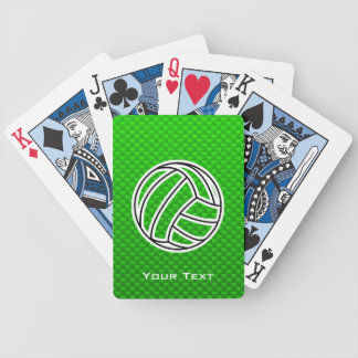 Green Volleyball Bicycle Playing Cards