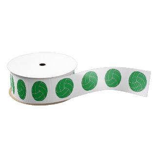 Green Volleyball Crossgrain Ribbon Grosgrain Ribbon