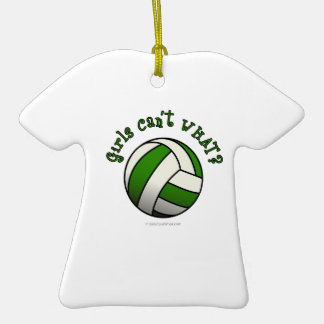 Green Volleyball Christmas Tree Ornaments