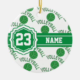 Green Volleyball | DIY Name and Number Christmas Ornament