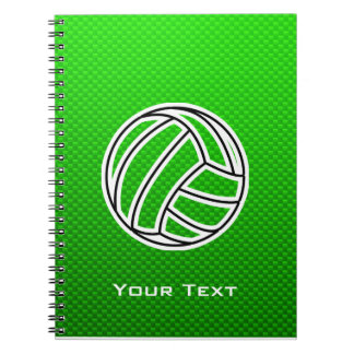 Green Volleyball Notebook