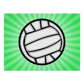 Green Volleyball Poster