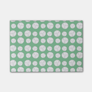 Green volleyballs pattern post-it® notes
